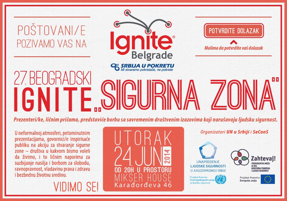 Dođite na 27. Beogradski Ignite - Sigurna zona