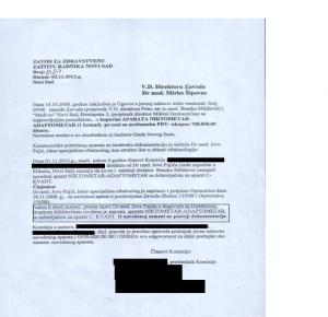 dopis komisije